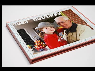 Voorkant van het herinneringsboek -Opa Bennie-