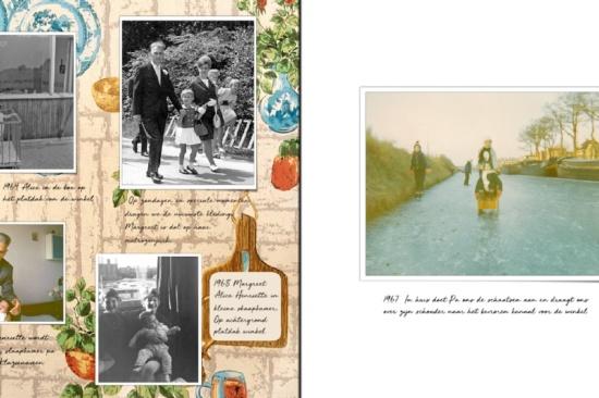 Een pagina uit het herinneringsboek Mijn vader
