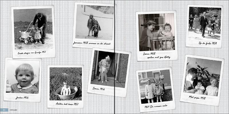 Collagepagina herinneringsboek
